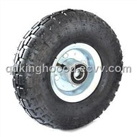 10-inch Rubber Wheel Solid and Pneumatic Tire, Quality Bearings and Sturdy Rims