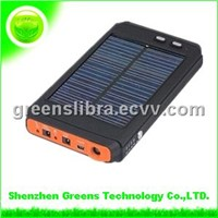 12000 mAh Solar Charger (Power bank) for Laptop with LED Light - Monocrystalline Silicon (GPSO12000)