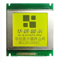128 x 128 STN lcd 1 modules with Yellow-green LED backlight, white metal bezel