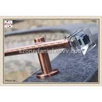 28mm Copper Crystal End Curtain Rods(TPH28-04)