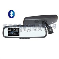 3.5 inch Digital TFT-LCD monitor,car rear-view mirror monitor with bluetooth function