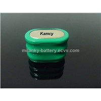 3.6V 160mAh 150H rechargeable Ni-MH button cell pack