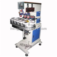 3 color Ink cup converyor  pad printing machine with ink cup