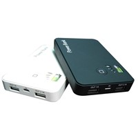 5000mAh 2 USB output Power Bank Portable External Battery Pack for ipad/iphone