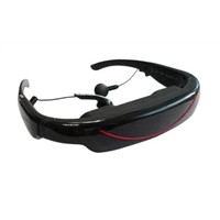 72inch Video Glasses with display movies, photos, e-book,support MPEG, AVI, RM, RMVB