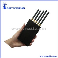 900/1800MHz Wi-Fi GPS GSM Jammer with 15m Jamming Coverage, 23dBm Output Power