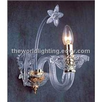 Flower Shape Glass Wall Lamp (AQ0244 1w)