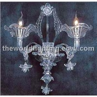 (AQ0249 2W) Hot Selling Candle Shape Glass Wall Lamp Made in China