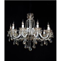 (AQ0284-10) Champagne Candle Shape Glass Chandelier