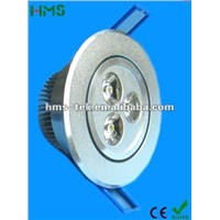 Aluminum cover 3w dimmable led recessed light