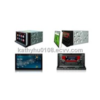 Android OS TFT LCD touch screen car DVD GPS with TV, radio, RDS, bluetooth, iPod, SD, USB, etc