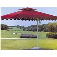 Beach Umbrella, marble bottom /fabric top / Iron frame