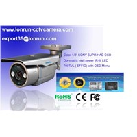 "CCTV  Camera 1/3"" Sony  CCD Ii DOT-Matrix High Power IR LED With OSD Menu Control 700tvl (EFFIO)"