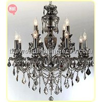 Gray Glass Candle Shape Crystal Classical Chandelier China (CHGC0260-8+4)