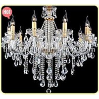 White Wine Transparent Color Glass Candle Shape Crystal Classical Chandelier China