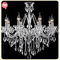 (CHGC0268-8)2012White Wine Transparent Color Glass Candle Shape Crystal Classical Chandelier China