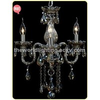 (CHGC0276-3)2012 Hot Red Wine Color Glass Candle Shape Crystal Classical Chandelier China