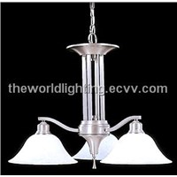 CHSI-9313-Simple Modern Glass Chandelier with 3 lamp bulbs