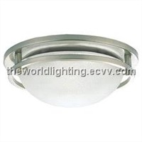 CL011-Chrome Metal Stand Glass Cover Modern Simple Ceiling Light/Optic Fiber Ceiling Light