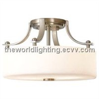 CL015-Chrom Metal Stand Fabric Cover Modern Simple Ceiling Light China