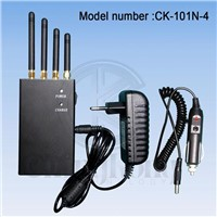 Cell Phone 3G+GPS Signal High Power Portable Jammer CK-101N4-GPS