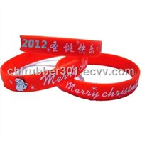 Christmas gift of silicone bracelet