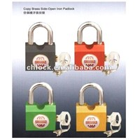 Copy Brass Side-Open Iron Padlock with Keys