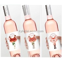 Customize 3D lenticular wine label, PVC label, bottle label, adhesivel label for beer