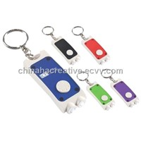 Dual LED Key Chain Light,mini torch, promotional flashlight