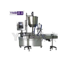 Dual Nozzles face cream,ice cream,jam Filling Machine
