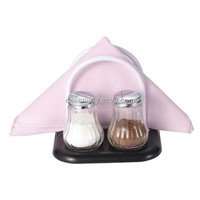 Glass spice jar with PP napkin holder