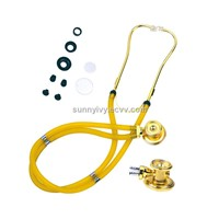 Golden head Spreague Rappaport type stethoscope
