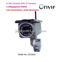 H.264 1.3Megapixel Outdoor Infrared WIFI Wireless IP Camera