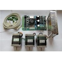 High Nema 23 Stepper Motor 270oz-in,3.0A +3 Axis Board + Power CNC Kit of wantai