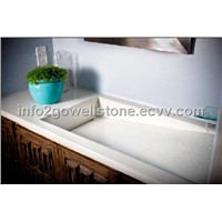 High Quanlity Acrylic Solid Surface Bathroom Sink or Wash Basin