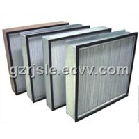 High efficiency air filter without partition