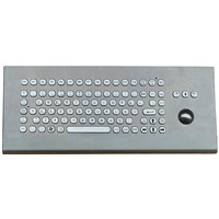 IP 65 Stainless Steel Desk Top Keyboard with Function Keys & Trackball (X-BP92D-S)