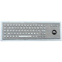 IP65 Stainless Steel Keyboard with Trackball for Kiosk (X-BP71B-S)