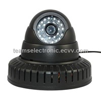 IP camera with 24pcs Infrared LED, external Audio capture equipment