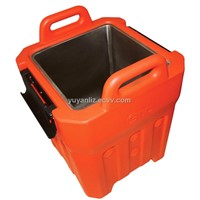 Insulated soup container with stainless steel tank