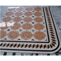 Marble medallion floor