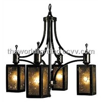Modern Simple Style Iron Glass Chandelier in China
