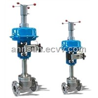 Multihole plug single seat cage type control valve