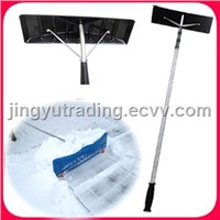 New Telescopic snow pusher for the roof Alu pole and Plastic shovel