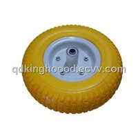 "PU Foam Tyre , Flat-Free Wheelbarrow Tire13""x5.00-6"