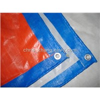 Tent, PE Tarpaulin Orange, Blue 60g, 120g, 180g