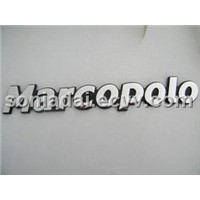 Personalized ABS adhesive car emblem with Chrome plating