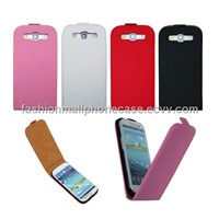 Plain leather case for  Samsung galaxy S3 i9300