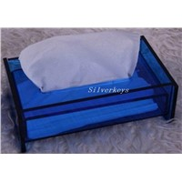 Tissue Box (Blue Acrylic)