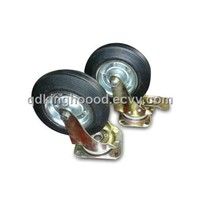 Rubber wheel,Industrial Caster with 8-inch